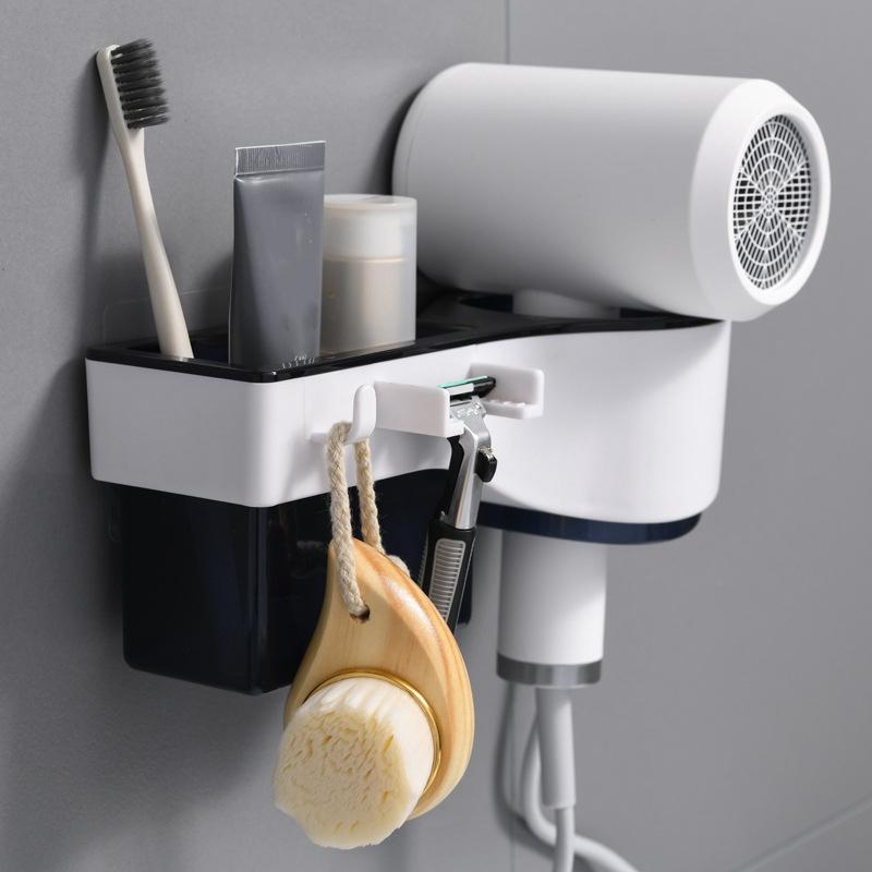 Support-de-SeChoir-a-Cheveux-Support-de-Rangement-Mural-pour-Salle-de-Bain-F5Q3 miniature 8