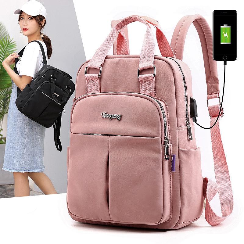 Rucksack-fuer-Frauen-GrossE-KapazitaeT-UmhaeNgetaschen-Laptoptasche-mit-USB-Reis-JKO Indexbild 10