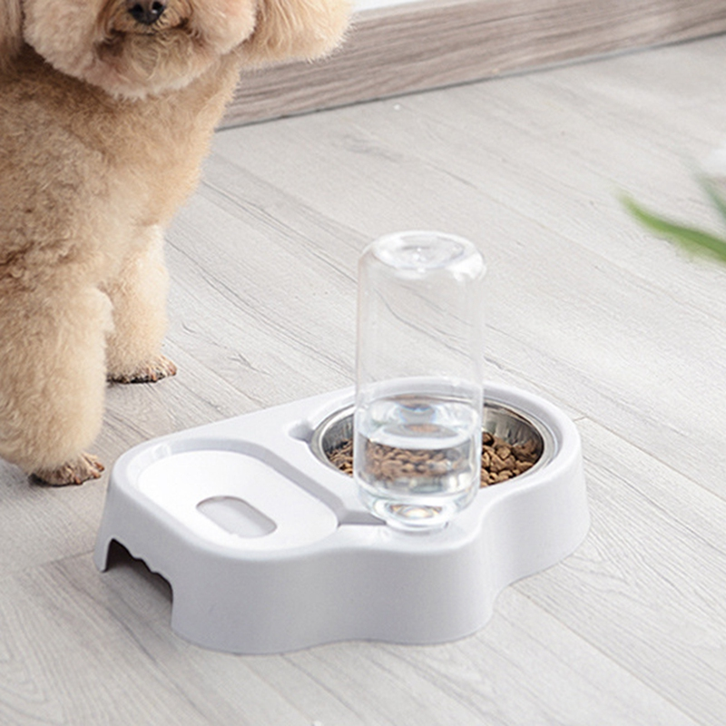 thumbnail 9 - Cat-Bowl-Dog-Water-Feeder-Bowl-Cat-Kitten-Bottle-Drinking-Fountain-Food-Pet-S9M3