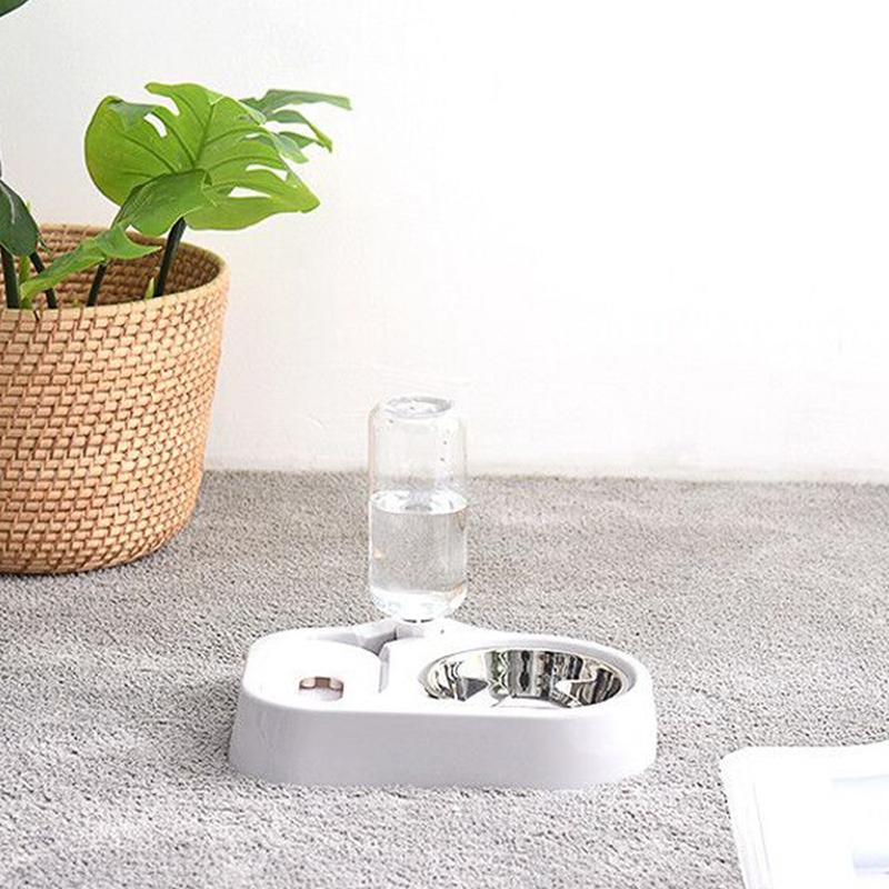thumbnail 12 - Cat-Bowl-Dog-Water-Feeder-Bowl-Cat-Kitten-Bottle-Drinking-Fountain-Food-Pet-S9M3