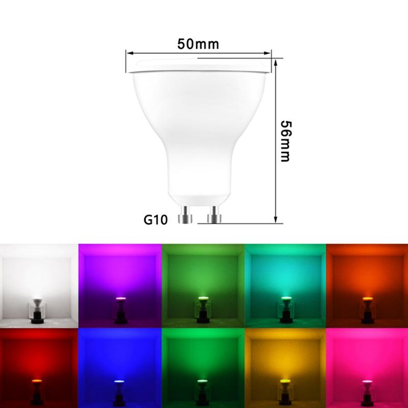 RGB CW GU10//GU5.3 WiFi LED Licht Leuchtmittel Spotlight Birne for Alexa Google