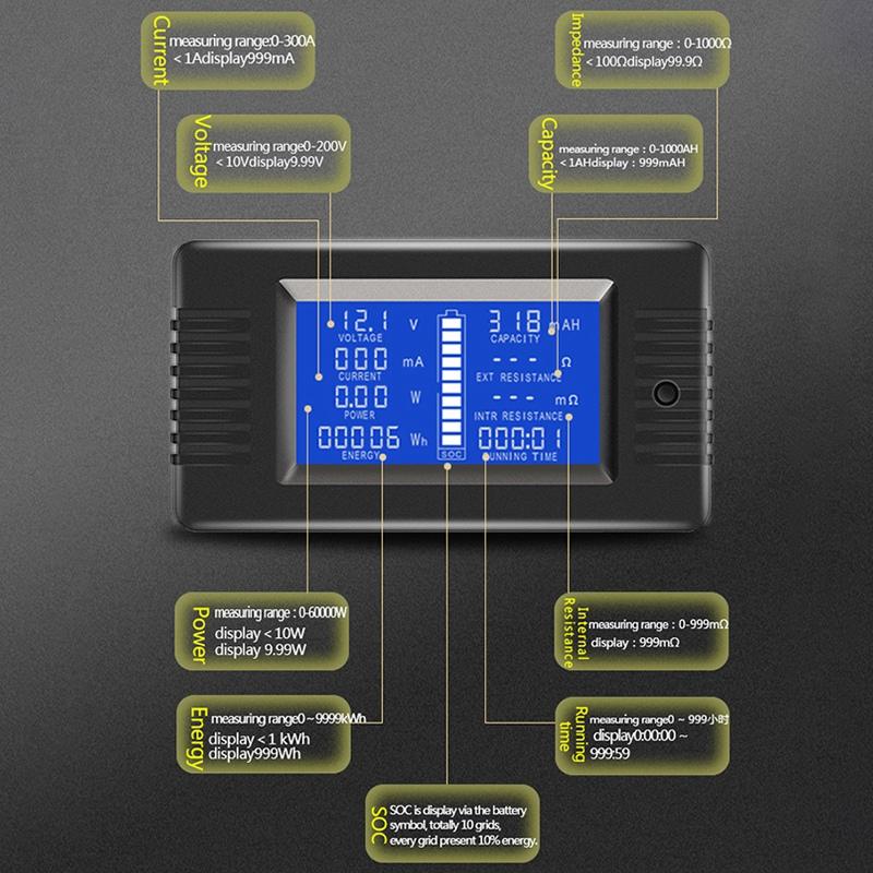 PZEM-015 200V 50A Battery Discharge Tester Capacity Power Energy Impedance M7V7 2
