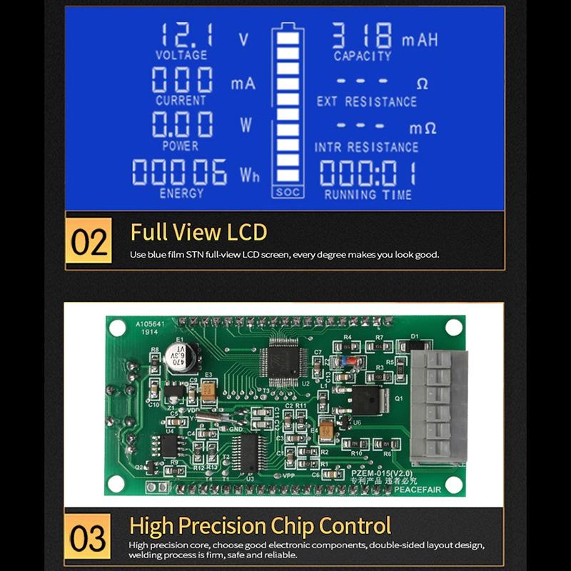 PZEM-015 200V 50A Battery Discharge Tester Capacity Power Energy Impedance M7V7 3