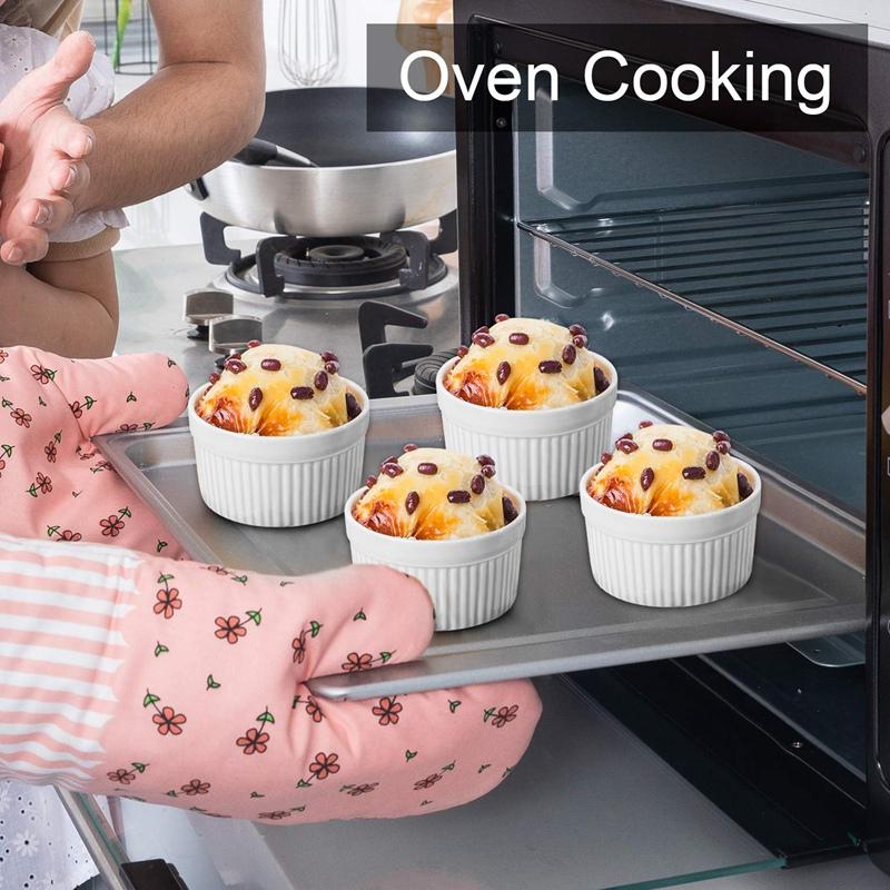 Set of 12 PCS 6Oz Baking Ramekins Round Porcelain Oven Safe Ramekin Dessert Souf  eBay