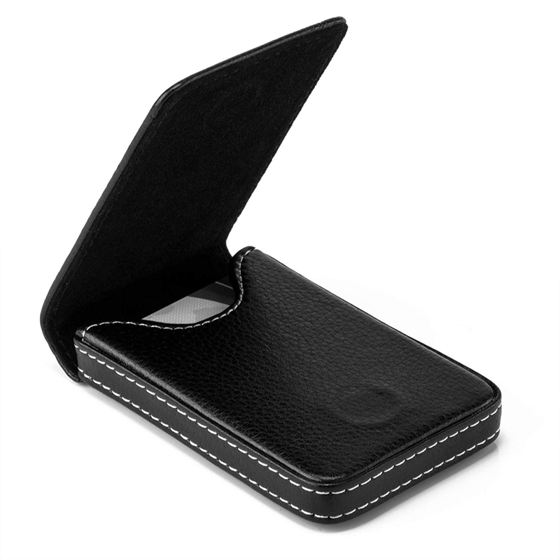 Business-Card-Holder-Premium-PU-Leather-Business-Card-Case-Wallet-Men-039-s-Wom-O3D8 thumbnail 4
