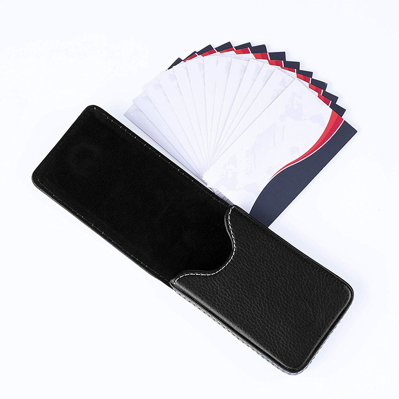 Business-Card-Holder-Premium-PU-Leather-Business-Card-Case-Wallet-Men-039-s-Wom-O3D8 thumbnail 7