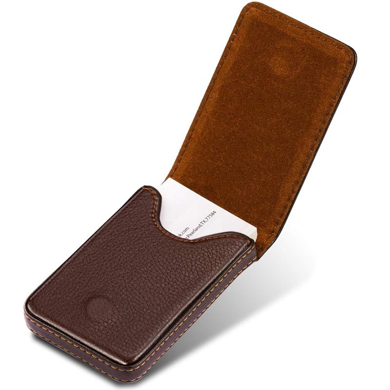Business-Card-Holder-Premium-PU-Leather-Business-Card-Case-Wallet-Men-039-s-Wom-D7X1 thumbnail 11