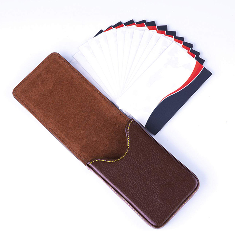 Business-Card-Holder-Premium-PU-Leather-Business-Card-Case-Wallet-Men-039-s-Wom-D7X1 thumbnail 13