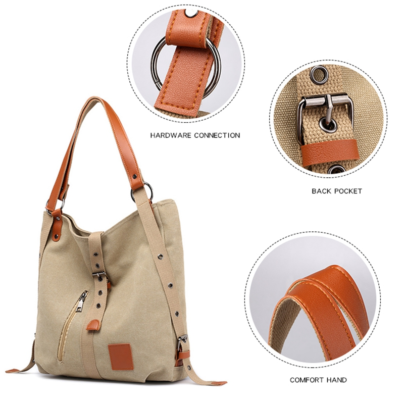 Mummy-Bag-Multifunctional-Backpack-Leisure-Women-039-s-Handbag-Large-Capacity-CW7G5 thumbnail 7