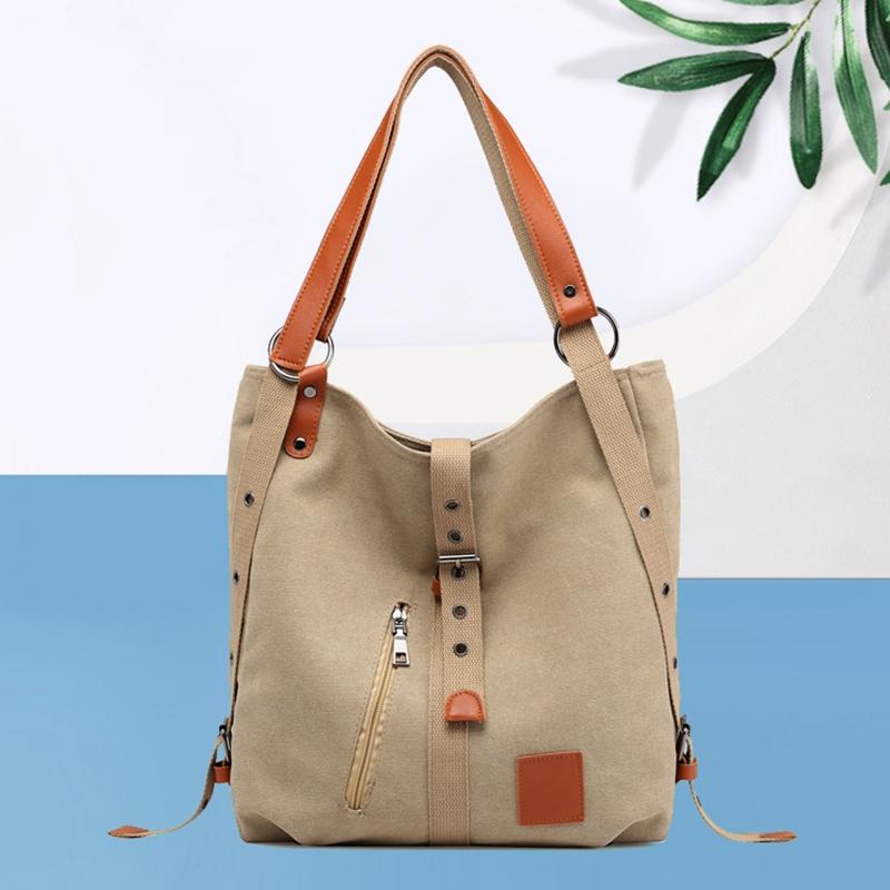 Mummy-Bag-Multifunctional-Backpack-Leisure-Women-039-s-Handbag-Large-Capacity-CW7G5 thumbnail 11