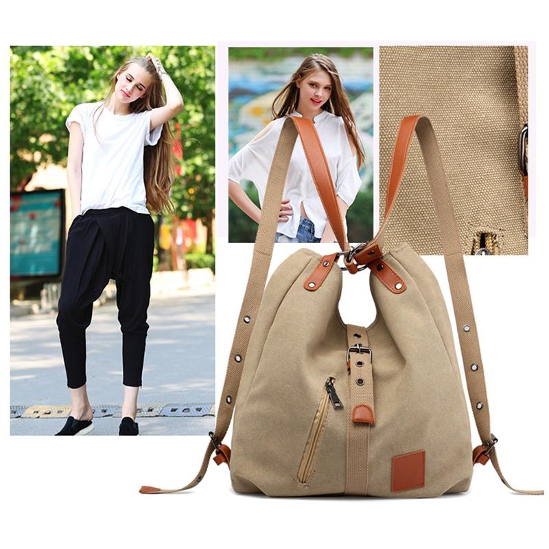 Mummy-Bag-Multifunctional-Backpack-Leisure-Women-039-s-Handbag-Large-Capacity-CW7G5 thumbnail 12