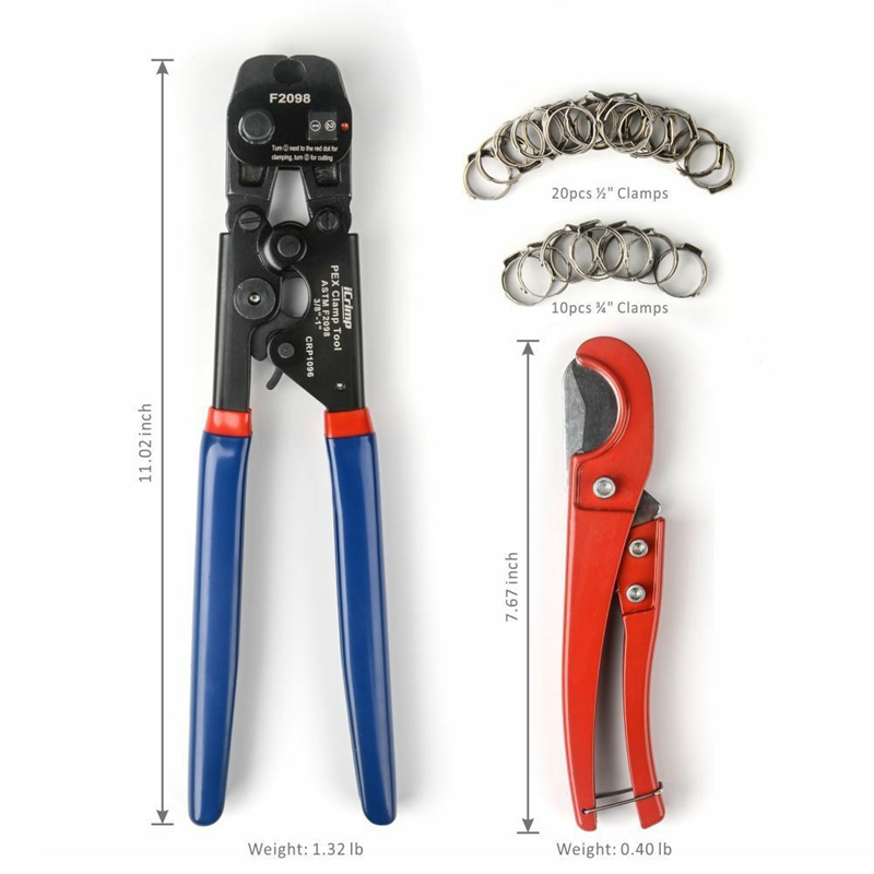 PEX Crimper Cinch Tool with Removing Function for 3/8 Inch- 1 Inch Clamps R2L7 7