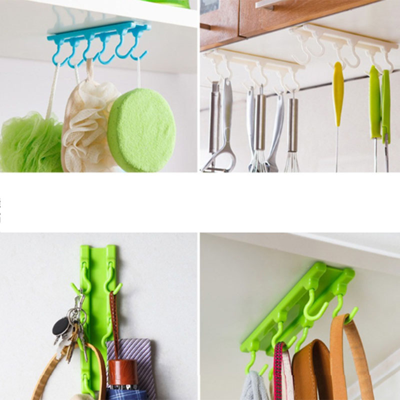 6 Pcs 4 Colors Plastic Strong Sticky Kitchen Cabinet Wall ...