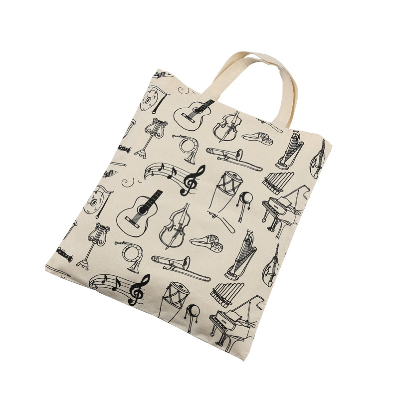 Music-Score-Cotton-Handbag-Musical-Elements-Note-Tote-Bag-Instruments-AccesO2D4 thumbnail 3