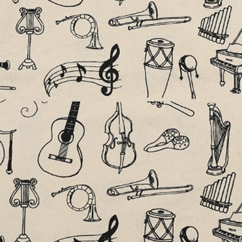 Music-Score-Cotton-Handbag-Musical-Elements-Note-Tote-Bag-Instruments-AccesO2D4 thumbnail 6