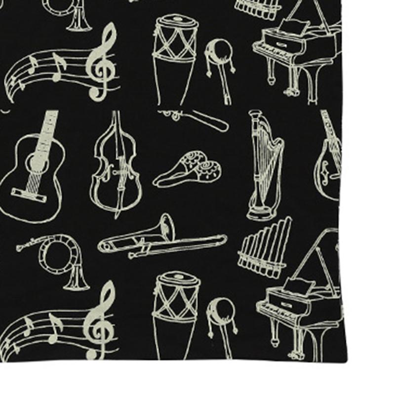 Music-Score-Cotton-Handbag-Musical-Elements-Note-Tote-Bag-Instruments-AccesO2D4 thumbnail 7