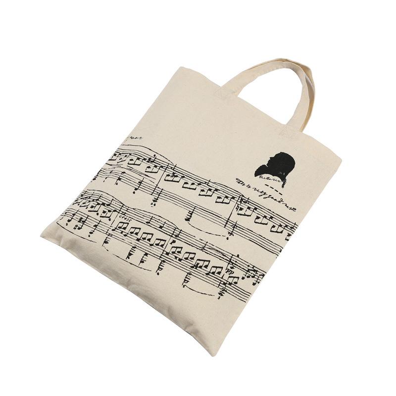 Music-Score-Cotton-Handbag-Musical-Elements-Note-Tote-Bag-Instruments-AccesO2D4 thumbnail 9