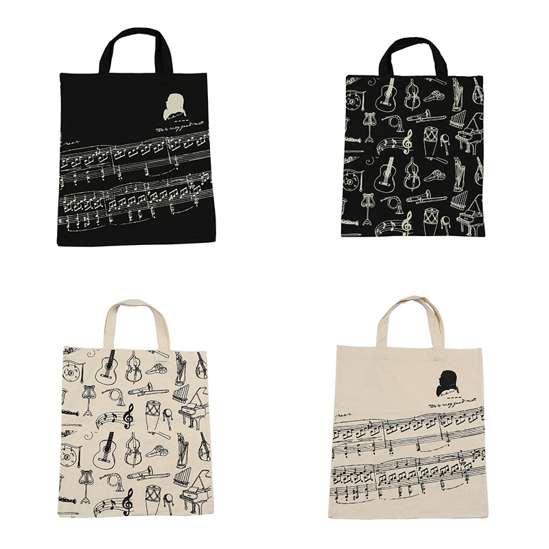 Music-Score-Cotton-Handbag-Musical-Elements-Note-Tote-Bag-Instruments-AccesO2D4 thumbnail 16