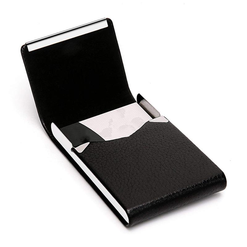 Visitenkartenetui Premium-Visitenkartenetui Aus PU-Leder für Herren Damen W2K1