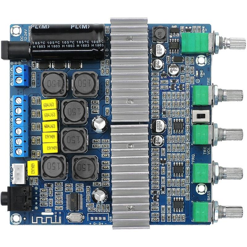15X-TPA3116D2-DC12V-24V-Bluetooth-4-2-Subwoofer-Audio-Amplifier-Board-2-1-C7X4 thumbnail 6