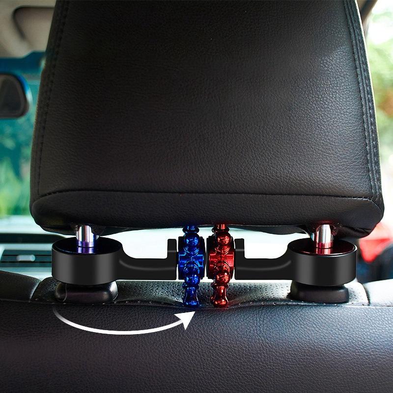 3X-2-in-1-Auto-KopfstueTze-Haken-mit-Handyhalter-RueCkenlehne-AufhaeNger-MultiM7P1 Indexbild 14
