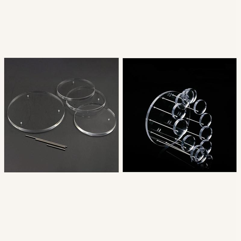 Indexbild 8 - 12 Runden Tablett Schmuck Display Rack Ohrringe Armband Halskette Display R Y5P9