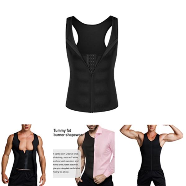 Man-Shaper-Male-Waist-Trainer-Cincher-Corset-Men-Body-Modeling-Belt-Tummy-S-T9I7 thumbnail 8
