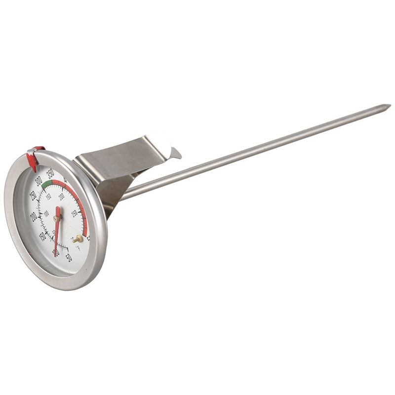 Handy 8 Inch Probe Deep Fry Meat Turkey Thermometer with 2 I