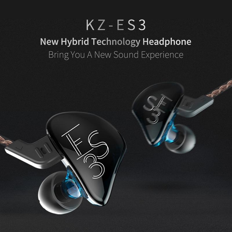 miniature 10 - KZ ES3 ÉCouteur Hybride Dynamique et éQuilibré à Armature dans L'Oreille HI R3H6