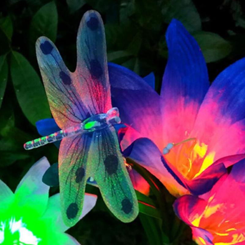 2-Pcs-Led-Solaire-Fleur-de-Lys-en-Plein-Air-Jardin-Jardin-Lampe-3-TeTe-Lily-K3P9 miniature 6