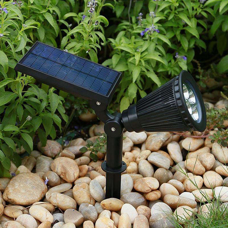 2Pcs-4-LED-Solaire-Paysage-LumieRes-ETanche-EClairage-ExteRieur-ETanche-2-E-J6K8 miniature 5