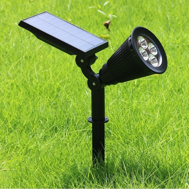 2Pcs-4-LED-Solaire-Paysage-LumieRes-ETanche-EClairage-ExteRieur-ETanche-2-E-J6K8 miniature 6