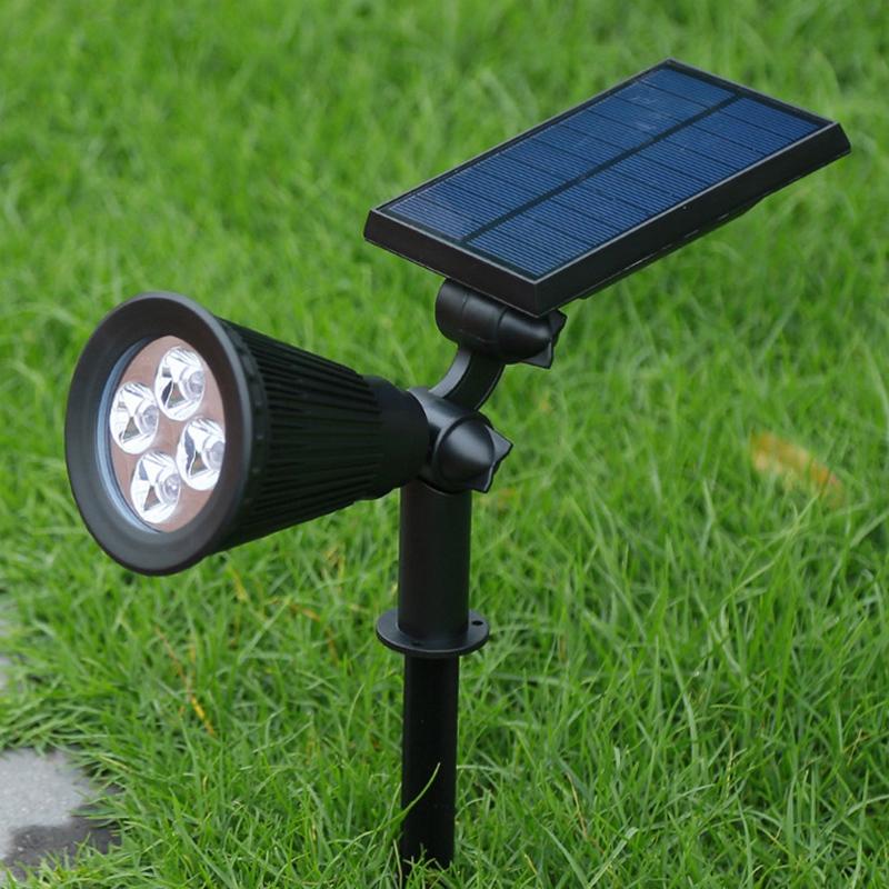 2Pcs-4-LED-Solaire-Paysage-LumieRes-ETanche-EClairage-ExteRieur-ETanche-2-E-J6K8 miniature 7