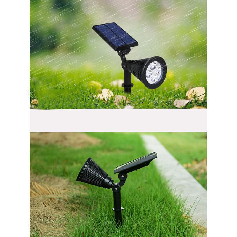 2Pcs-4-LED-Solaire-Paysage-LumieRes-ETanche-EClairage-ExteRieur-ETanche-2-E-J6K8 miniature 9