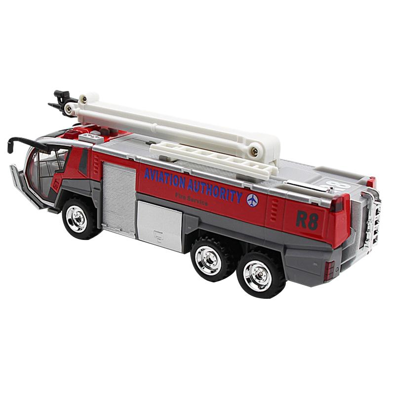 1-32-Airport-Fire-Truck-Fire-Engine-ELectrique-Moule-Sous-Pression-VeHicule-G8I7 miniature 3