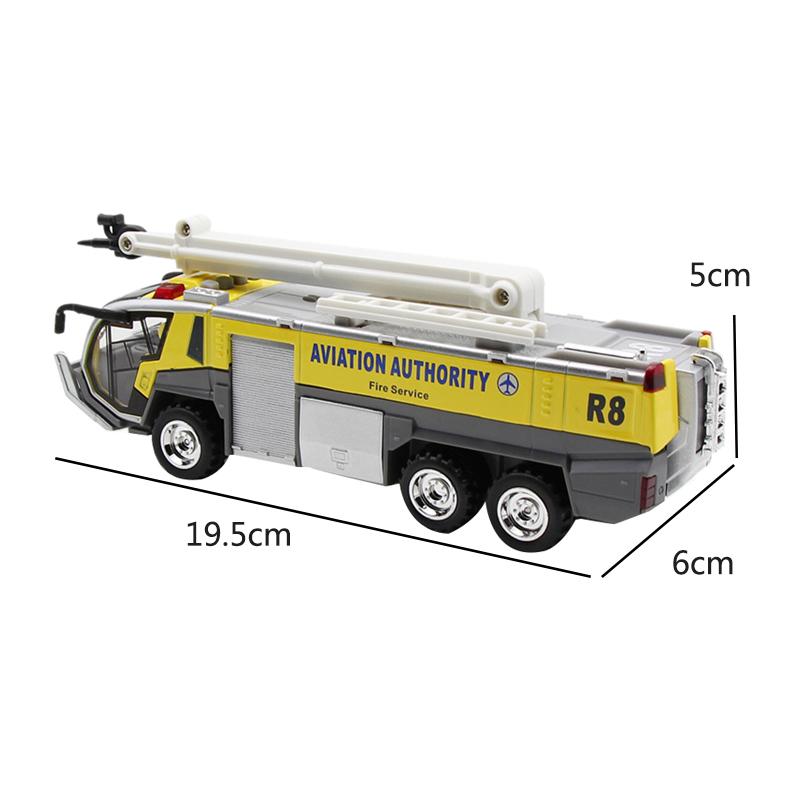 1-32-Airport-Fire-Truck-Fire-Engine-ELectrique-Moule-Sous-Pression-VeHicule-G8I7 miniature 6