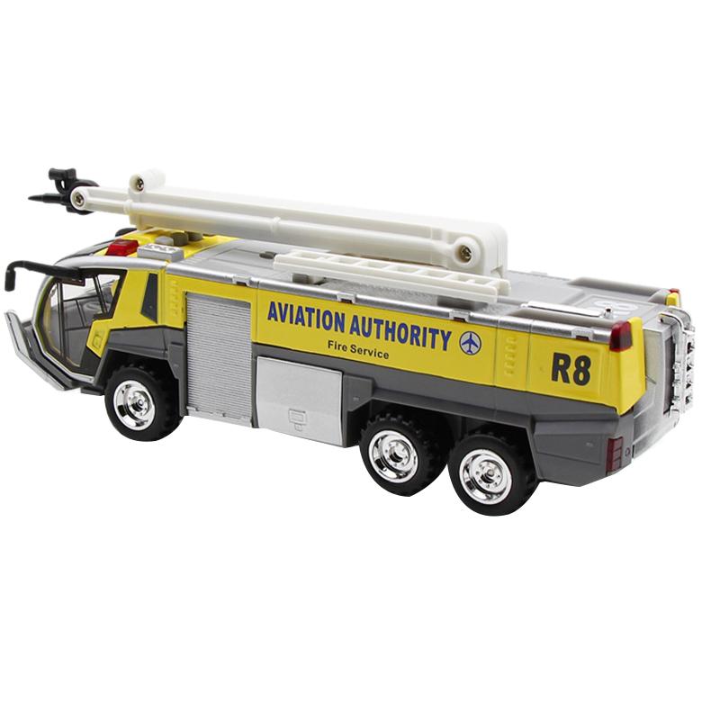 1-32-Airport-Fire-Truck-Fire-Engine-ELectrique-Moule-Sous-Pression-VeHicule-G8I7 miniature 9