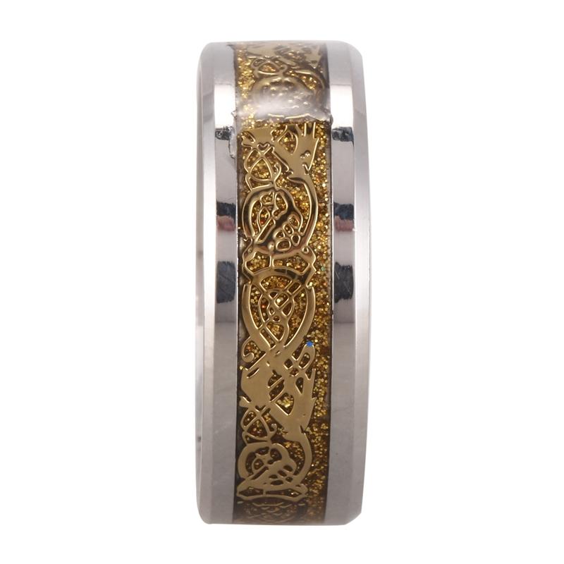 Drachenschuppe Drachen Muster schraeg Kanten keltisch Ringe Schmuck Hochze QP 5X