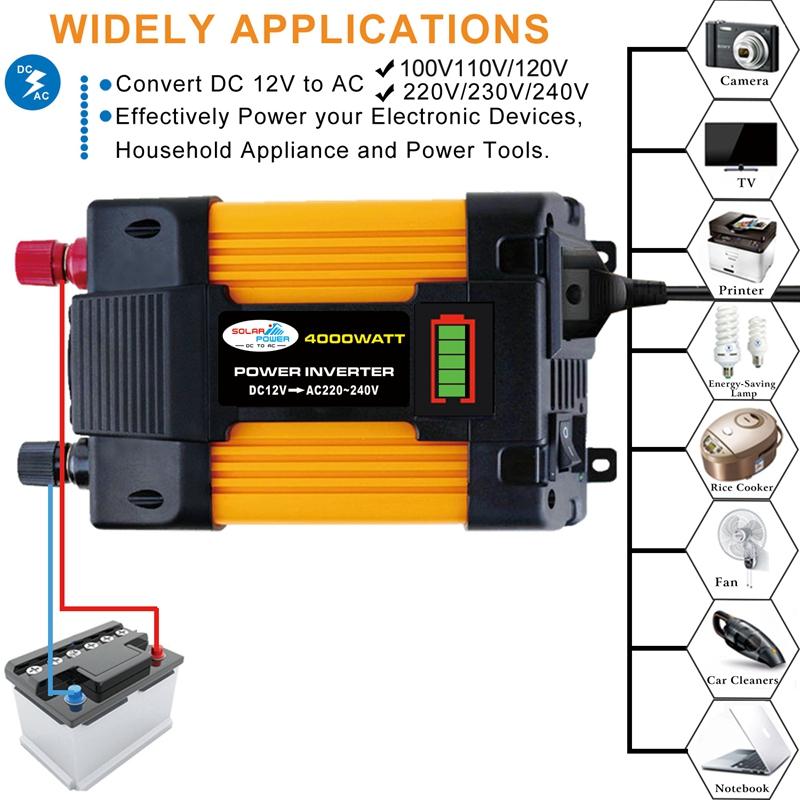 Onduleur-4000W-Transformateur-de-Tension-Ondes-SinusoiDales-ModifieEs-K9W8 miniature 8