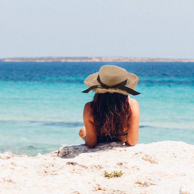 Cappello-Estivo-da-Spiaggia-da-Spiaggia-Cappello-da-Fiocco-Cappello-nel-Raf-K9V3 miniatura 12