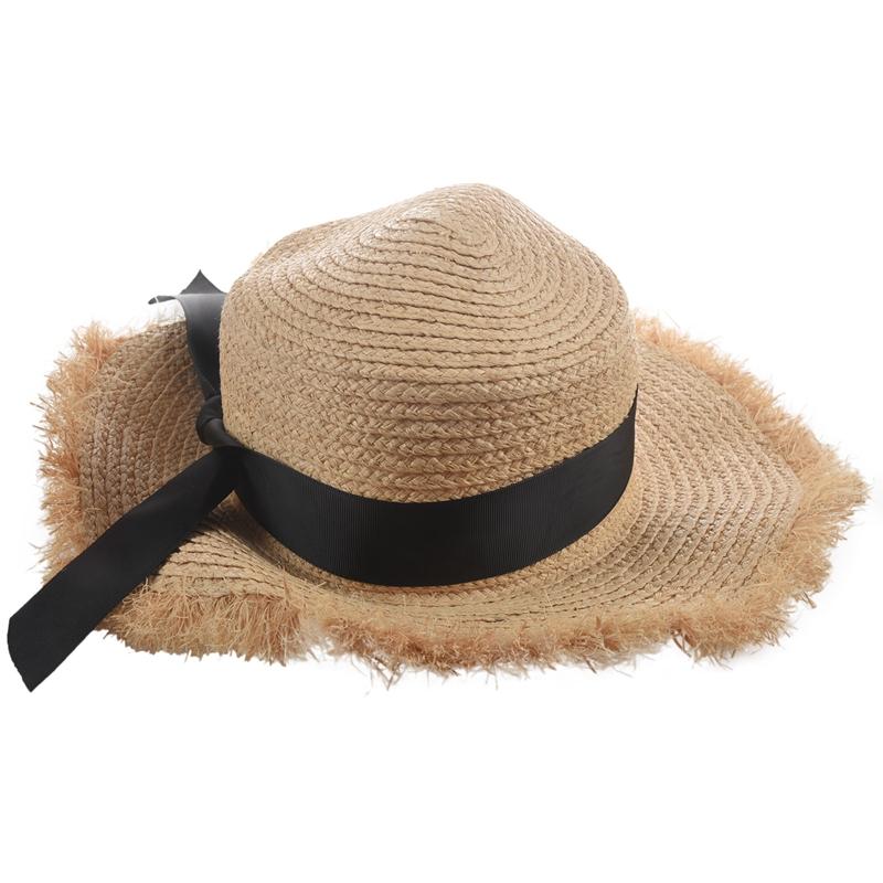 Cappello-Estivo-da-Spiaggia-da-Spiaggia-Cappello-da-Fiocco-Cappello-nel-Raf-K9V3 miniatura 14