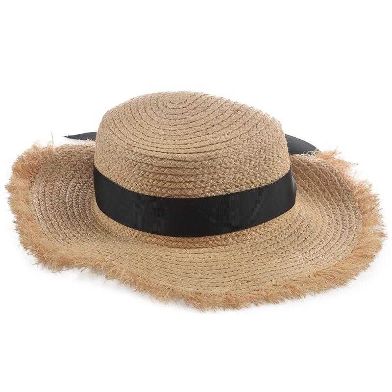Cappello-Estivo-da-Spiaggia-da-Spiaggia-Cappello-da-Fiocco-Cappello-nel-Raf-K9V3 miniatura 15