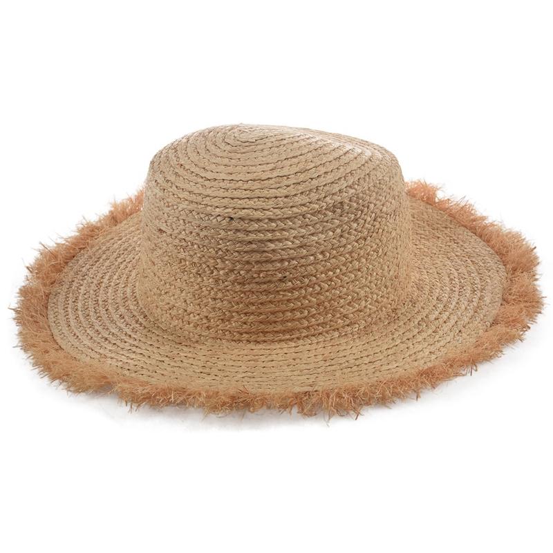Cappello-Estivo-da-Spiaggia-da-Spiaggia-Cappello-da-Fiocco-Cappello-nel-Raf-K9V3 miniatura 5