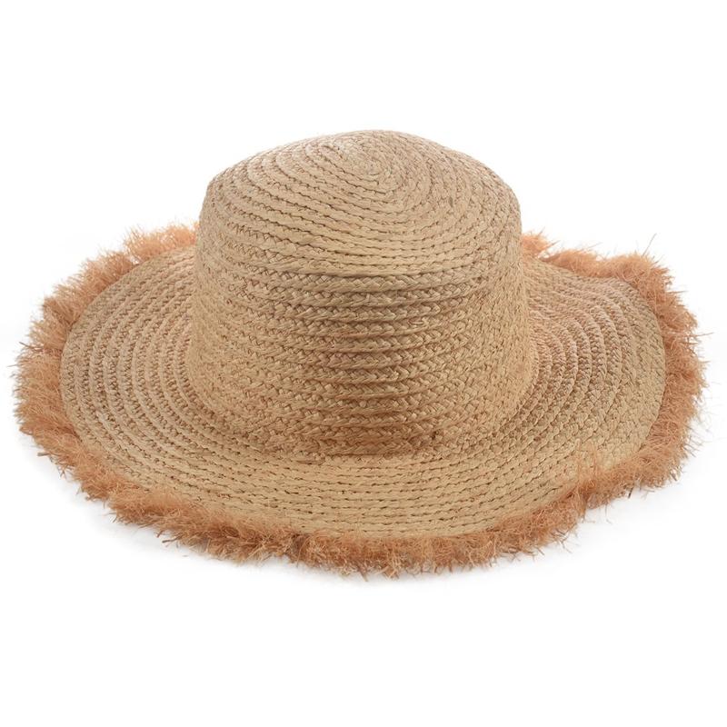 Cappello-Estivo-da-Spiaggia-da-Spiaggia-Cappello-da-Fiocco-Cappello-nel-Raf-K9V3 miniatura 7