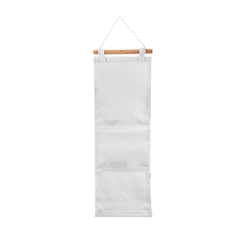 miniatura 10 - Sacchetto di Immagazzinaggio Appeso Modello Bianco Nero Lino di Cotone Dell S7D1