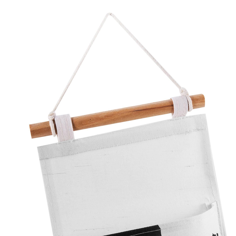 miniatura 11 - Sacchetto di Immagazzinaggio Appeso Modello Bianco Nero Lino di Cotone Dell S7D1
