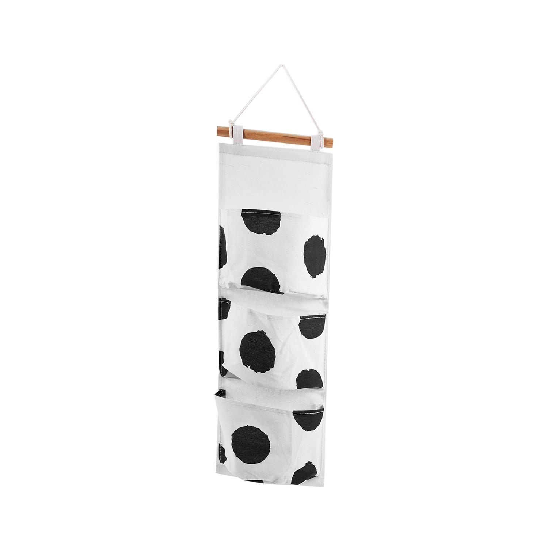 miniatura 12 - Sacchetto di Immagazzinaggio Appeso Modello Bianco Nero Lino di Cotone Dell S7D1