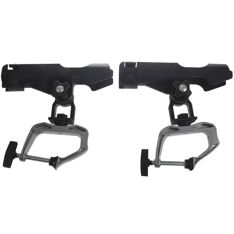 2Pack Fishing Boat Rods Holder With Large Clamp Opening 360 Degree Adjustab U6K4