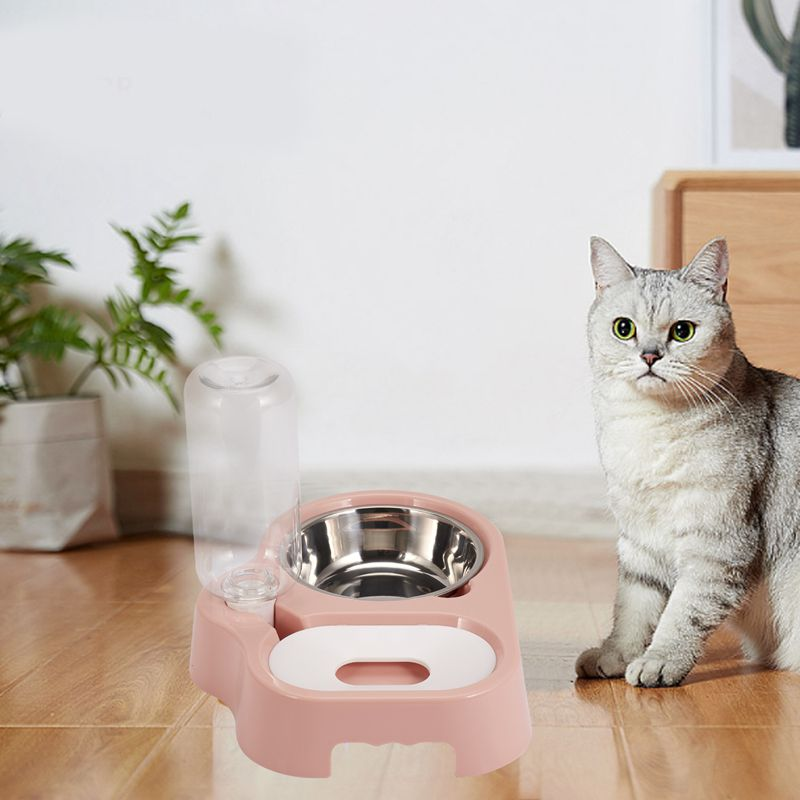 thumbnail 18 - Cat Bowl Dog Water Feeder Bowl Cat Kitten Drinking Fountain Food Dish Pet BY3N4