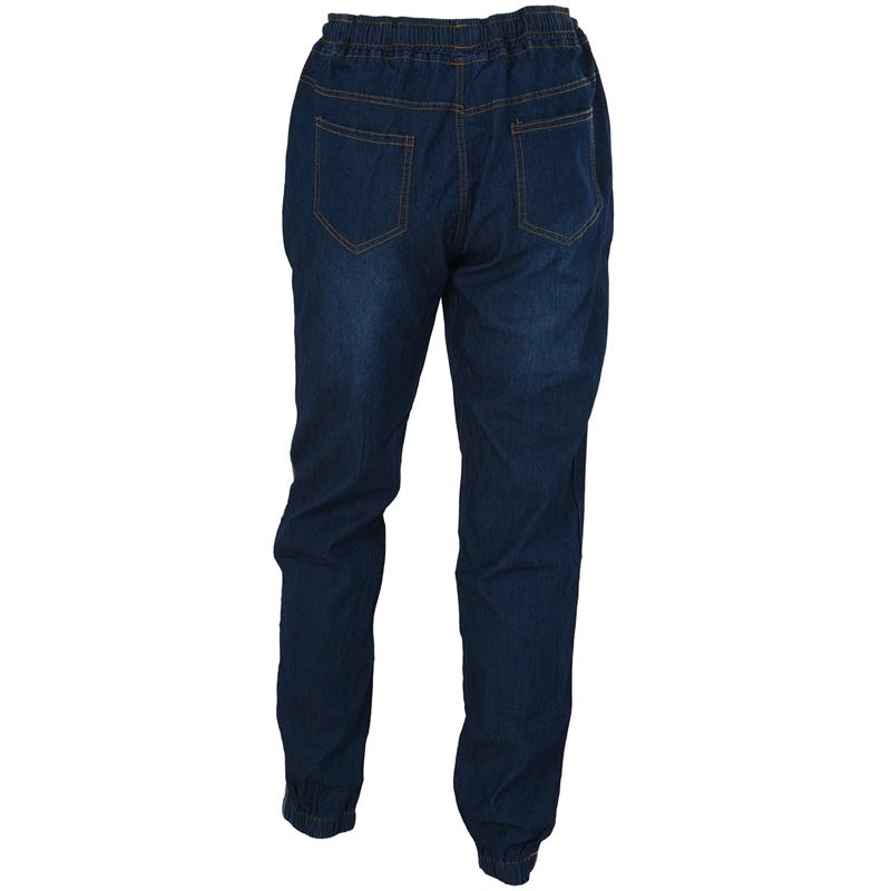 1X-Frauen-Retro-Laessig-Jogging-Hosen-Kordelzug-Elastische-Taille-Jeans-Dame-O9W1 Indexbild 3